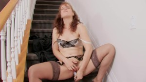 Cute Redhead Helena Msturbates On The Stairs - Mavenhouse