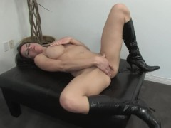Busty brunette loves to fuck herself - Mavenhouse