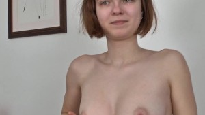 Hairy Denisma plays solitaire then with her hairy pussy