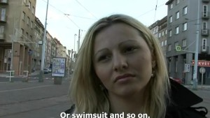 CZECH STREETS – Ilona takes cash for public sex