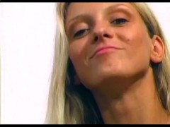 German blonde plays with herself - Sascha Production