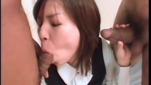 Tokyo Schoolgirl Pounded By Two Cocks - Third World Sex all the way