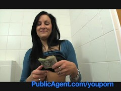 PublicAgent Sexy Clair fucking me in the restaurant toilets