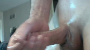 Slim Guy Masturbating Cum Shot