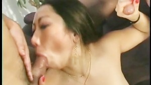 It was a hard job to milk those cock but she did an amazing job