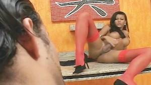 Trannykingz's Miriany Ribeiro gets fierce fuck anal