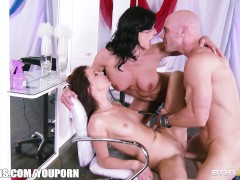 Kendra Lust and Kiera Winters invite Johnny Sins to a threesome
