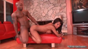 Pretty black babe loves a monster dick