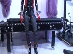 Picture Hot latex babe all tied up - Absurdum Produc...
