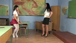 Naughty student and teacher get naked - Playvision