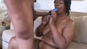 Ebony BBW Dildos, Cocks Sucks And Gets Fucked