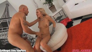 EvilAngel Euro Model Babe Gaped and Facialed