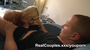 A kinky couple fuck in there house