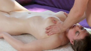 Young brunette gets turned on by massage - Mavenhouse