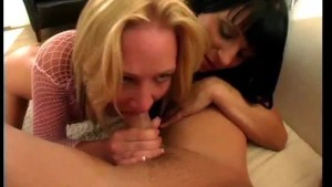 Two gorgeous sluts share a cock - Chain Reaction
