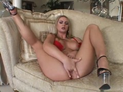 Busty Blonde plasy with herself - Acid Rain