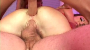Two dicks in the asshole, that feels good! - DNA