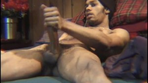 Black thug pumps his dick as big as he can - East Harlem Productions
