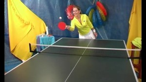 young couple fucking on table tennis table after a quick game
