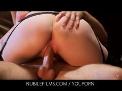 Nubile Films - Romantic couple make passionate love