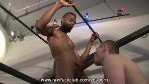 Blue Bailey Sucks A Big Black Cock
