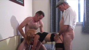 groupsex with our voyeur papy