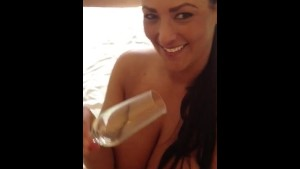 Cum drinking busty Scottish girl