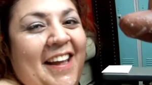 Beautiful big tits BBW Reyna loves to eat cum