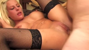 Hot blonde gets her tits covered in jizz - Kemaco Studio