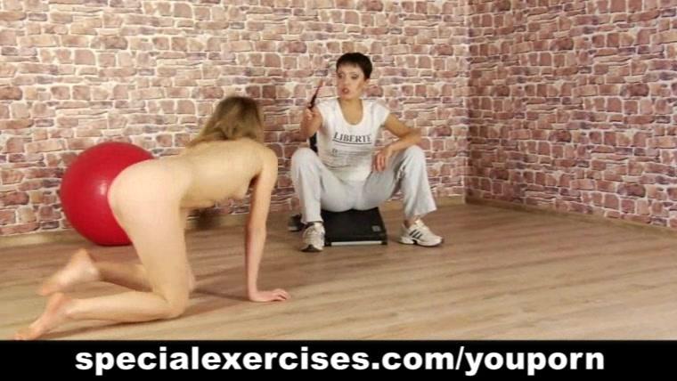 Nude BDSM training of teen blondie