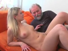 - Old man fucks a blonde...