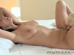 MOM Lesbian MILF seduces Blonde girlfriend
