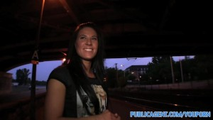 PublicAgent Stunning blue eyed babe fucks outside under a bridge