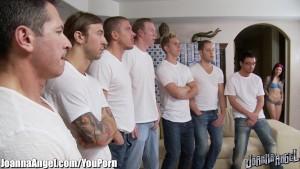 Joanna Angel Gang Banged and Bukkaked by 8 Guys