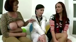Two teen beauties become lesbians due to their teacher who seduces them into lesbian sex