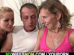 He fucks mother in law and wife watch...