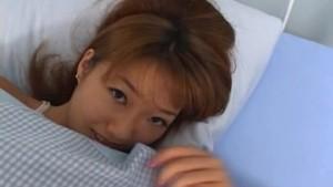 Japanese teen wakes up and gives a hot handjob uncensored
