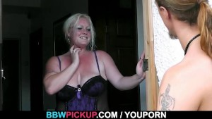 Blonde enjoys fresh cock into her fat cunt