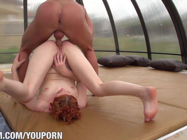 19yo ginger newbie gets anally ravaged 4