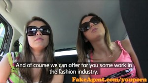 FakeAgent Good time girls suck and fuck in casting interview