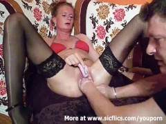Picture Fist fucking the wifes huge cunt till she sq...