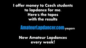 Rough blow job and lapdance by nasty czech chick