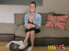 FakeAgentUK Sweet young amateur gets cream...