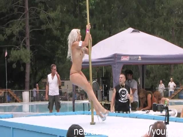 Nudes a Poppin Festival Stripper Contest at a Nudist Resort