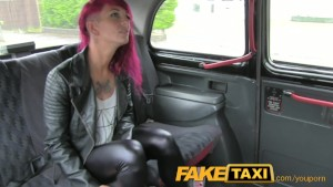 FakeTaxi Rock chick with tattoos gets real dirty