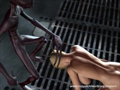 Picture Blonde chick fucked hard by an alien