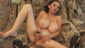 extreme big boobs alone at home