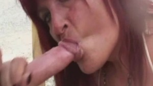 Busty amateur Milf sucks and fucks with cum