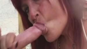 Busty amateur Milf sucks and fucks with cum