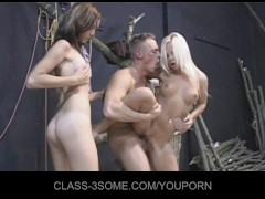 Horny girls tease the carpenter for 3fuck